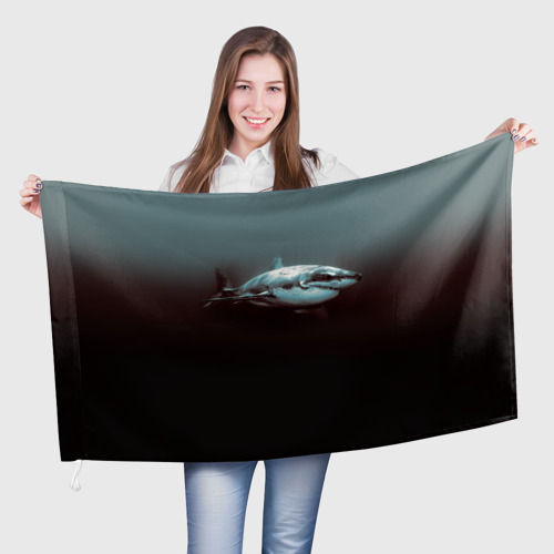 Флаг 3D Акула One фото