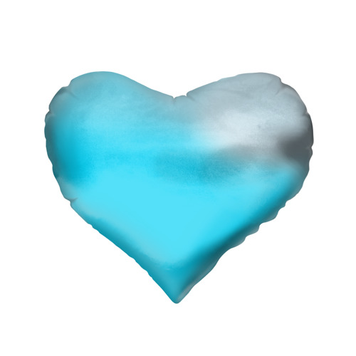 Подушка 3D сердце Пловец Фото 01