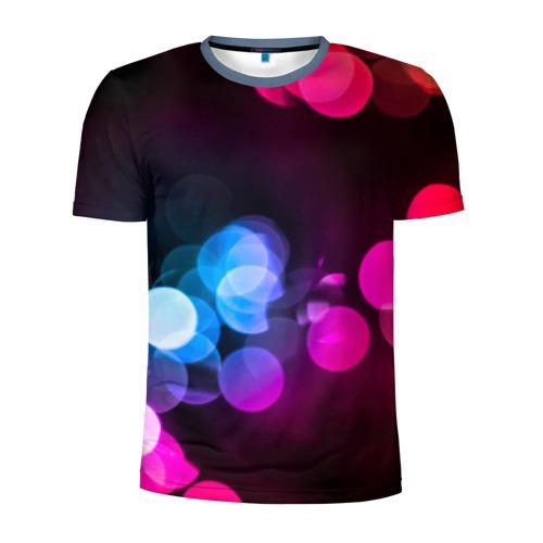 Мужская футболка 3D спортивная Light Spots