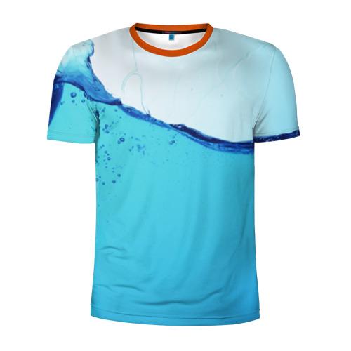 Мужская футболка 3D спортивная Вода