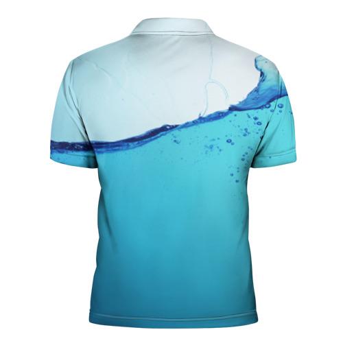 Мужская рубашка поло 3D  Фото 02, Вода