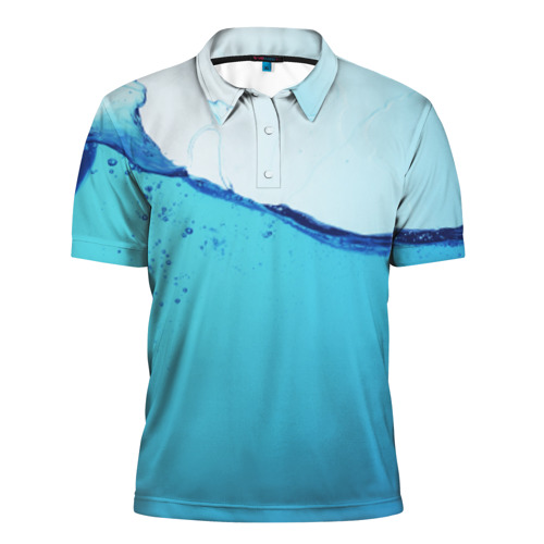 Мужская рубашка поло 3D  Фото 01, Вода