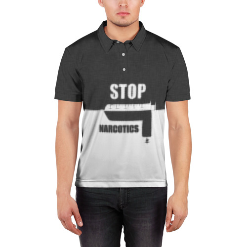 Мужская рубашка поло 3D  Фото 03, Stop narcotics