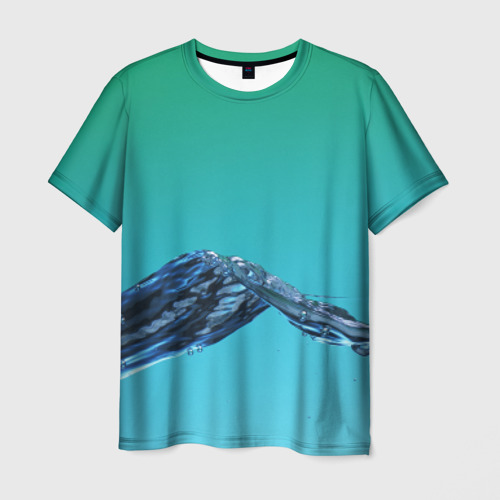 Мужская футболка 3D  Фото 01, Зеленая вода