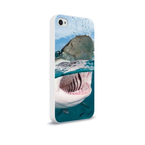 Чехол для Apple iPhone 4/4S soft-touch  Фото 02, Хищная акула