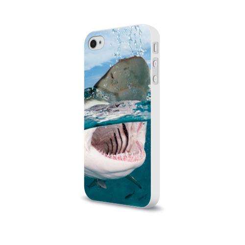 Чехол для Apple iPhone 4/4S soft-touch  Фото 03, Хищная акула