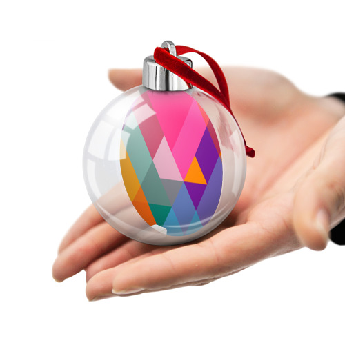Ёлочный шар  Фото 02, Разноцветные полигоны