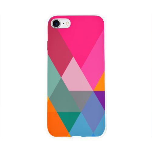 Чехол для Apple iPhone 8 силиконовый глянцевый  Фото 01, Разноцветные полигоны