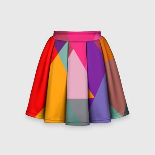 Детская юбка-солнце 3D Разноцветные полигоны