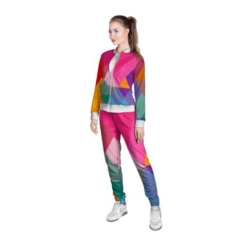 Женская олимпийка 3D  Фото 05, Разноцветные полигоны