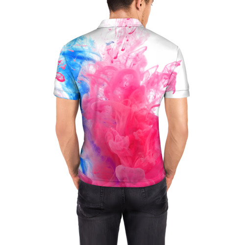 Мужская рубашка поло 3D  Фото 04, Взрыв красок