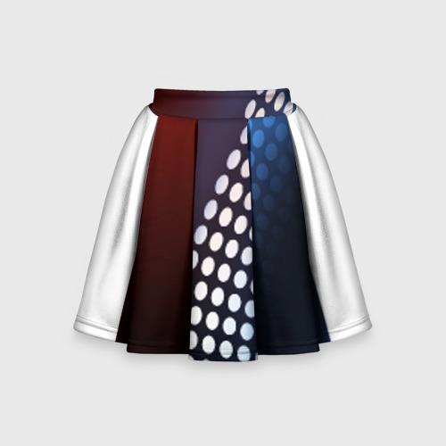 Детская юбка-солнце 3D Светящиеся круги