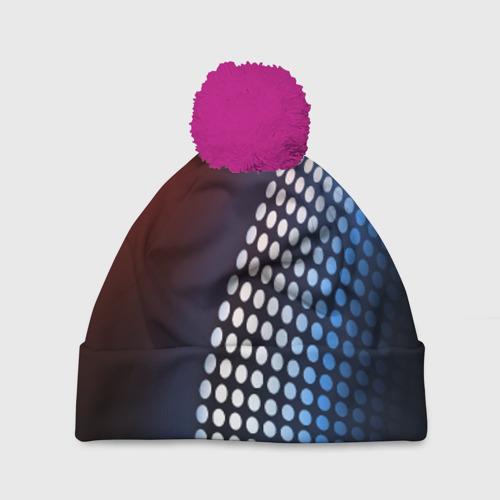 Шапка 3D c помпоном Светящиеся круги