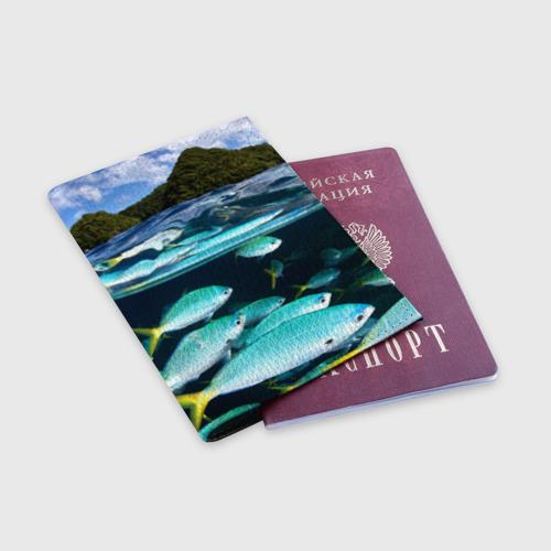 Обложка для паспорта матовая кожа  Фото 03, Подводный мир