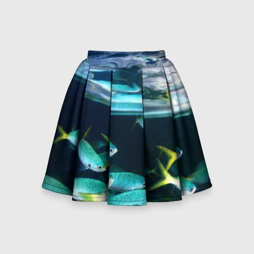 Детская юбка-солнце 3D Подводный мир