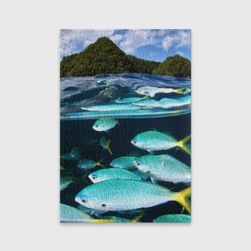 Обложка для паспорта матовая кожа  Фото 02, Подводный мир