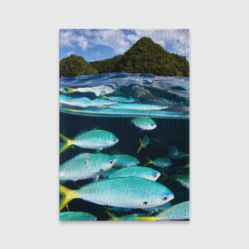 Обложка для паспорта матовая кожа  Фото 01, Подводный мир