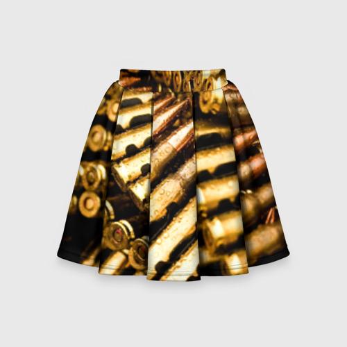 Детская юбка-солнце 3D Золотые патроны