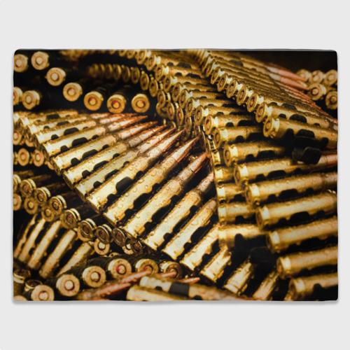 Плед 3D  Фото 03, Золотые патроны