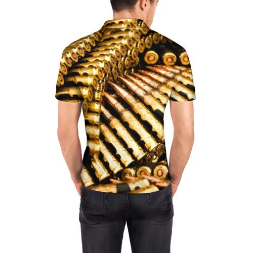 Мужская рубашка поло 3D  Фото 04, Золотые патроны