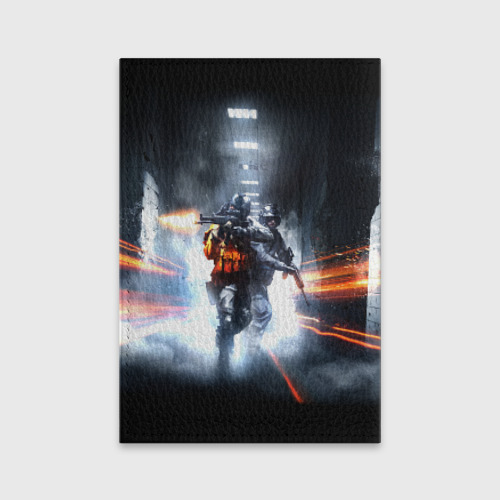 Обложка для паспорта матовая кожа  Фото 02, Battlefield Hardline