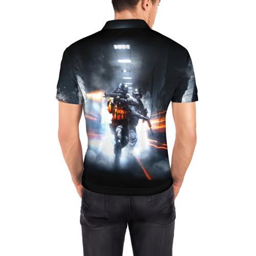 Мужская рубашка поло 3D  Фото 04, Battlefield Hardline