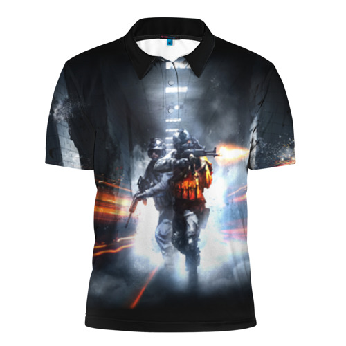 Мужская рубашка поло 3D  Фото 01, Battlefield Hardline