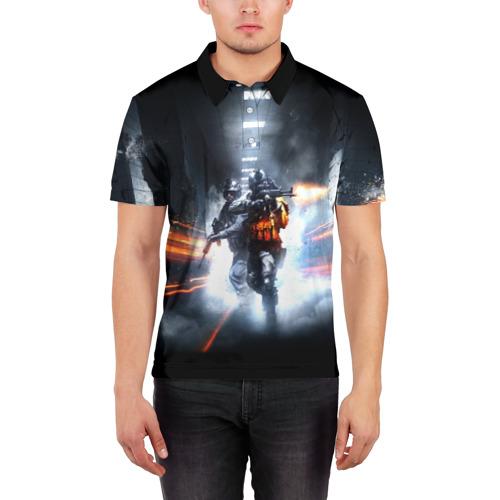 Мужская рубашка поло 3D  Фото 03, Battlefield Hardline