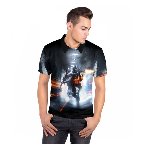 Мужская рубашка поло 3D  Фото 05, Battlefield Hardline