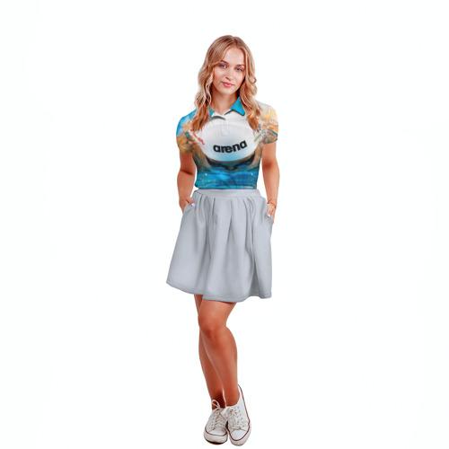Женская рубашка поло 3D  Фото 04, Пловец