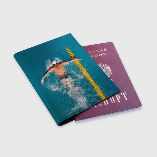 Обложка для паспорта матовая кожа  Фото 03, Баттерфляй