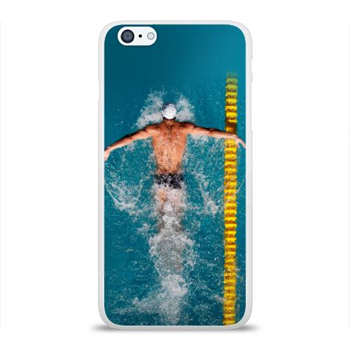 Чехол для Apple iPhone 6Plus/6SPlus силиконовый глянцевый  Фото 01, Баттерфляй