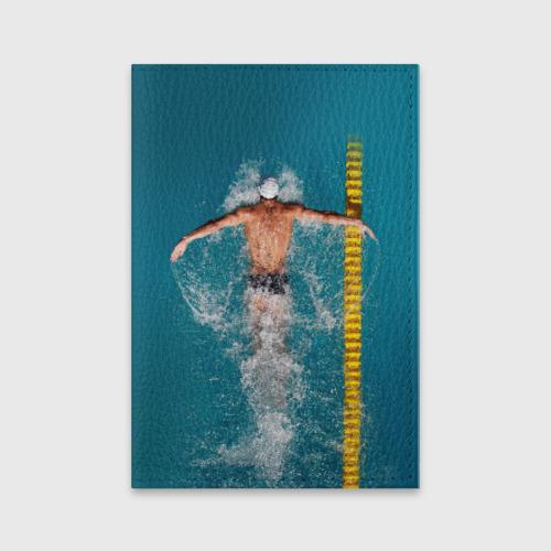 Обложка для паспорта матовая кожа  Фото 01, Баттерфляй