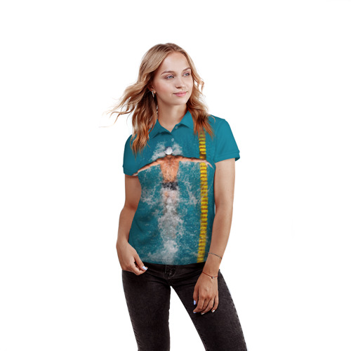 Женская рубашка поло 3D  Фото 03, Баттерфляй