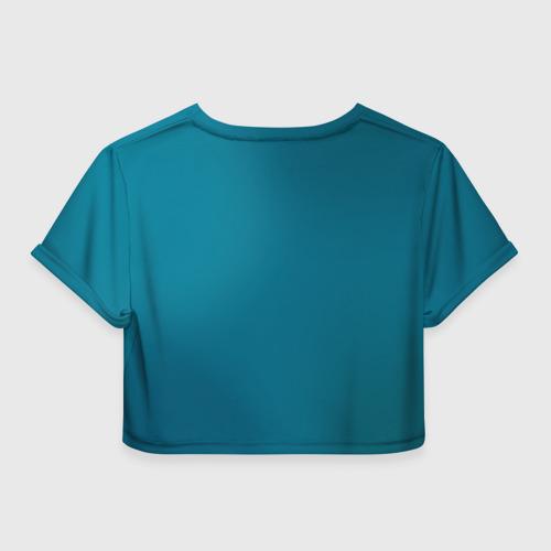 Женская футболка 3D укороченная  Фото 02, Баттерфляй