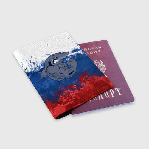 Обложка для паспорта матовая кожа  Фото 03, Акула
