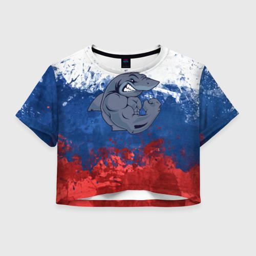 Женская футболка Cropp-top Акула