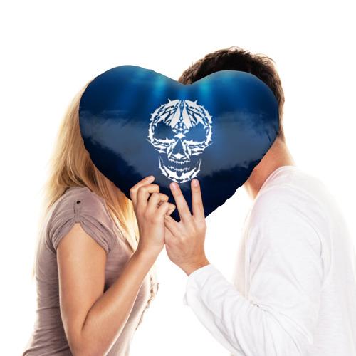 Подушка 3D сердце  Фото 03, Череп