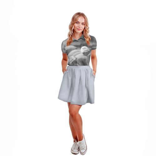Женская рубашка поло 3D  Фото 04, Пловцы