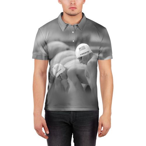 Мужская рубашка поло 3D  Фото 03, Пловцы