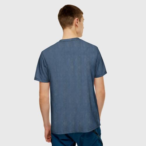Мужская футболка 3D Джинсовка