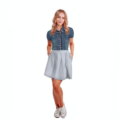 Женская рубашка поло 3D  Фото 04, Джинсовка