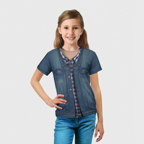 Детская футболка 3D  Фото 03, Джинсовка