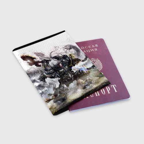Обложка для паспорта матовая кожа  Фото 03, Космоволк