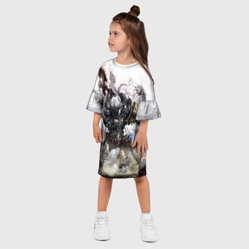 Детское платье 3D Космоволк