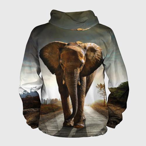Мужская ветровка 3D  Фото 02, Дикий слон