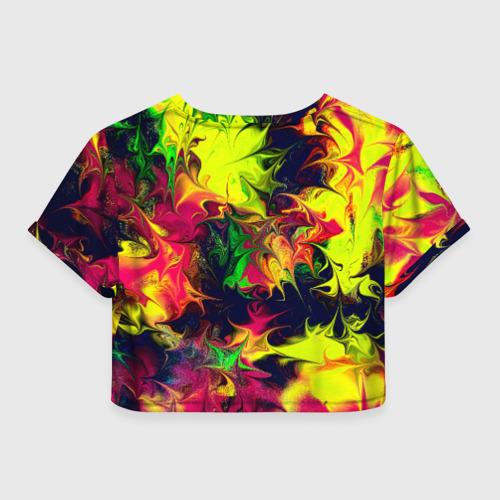 Женская футболка Crop-top 3D Кислота Фото 01
