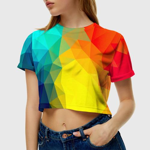 Женская футболка 3D укороченная  Фото 01, Fairy