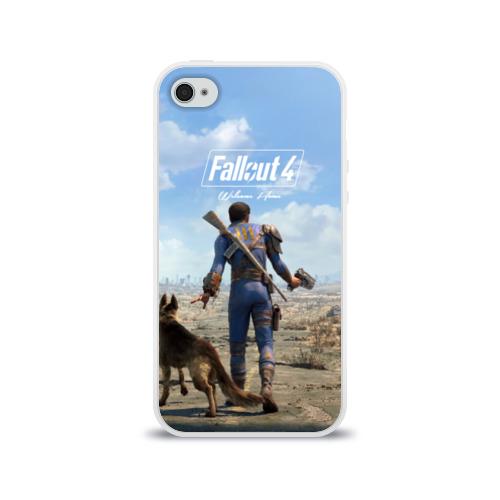 Чехол для Apple iPhone 4/4S силиконовый глянцевый  Фото 01, Fallout 4