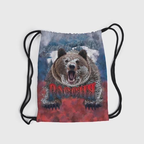 Рюкзак-мешок 3D Русский медведь Фото 01